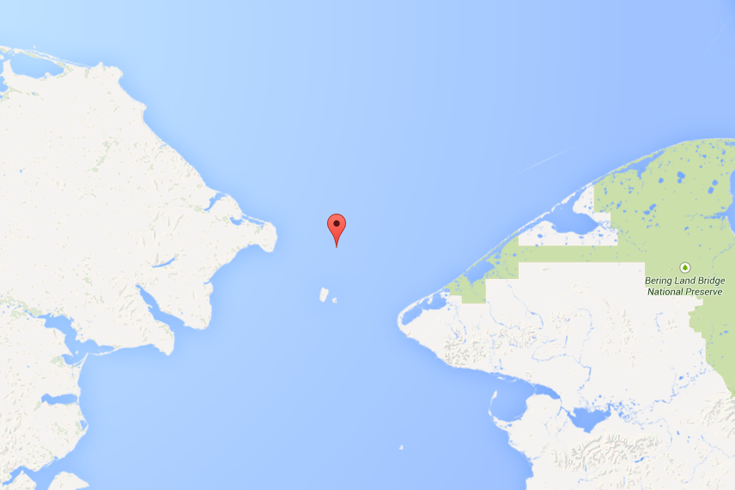 One of the Biggest Arctic Migrations You've Never Heard of - Ocean Diomede Islands Map on