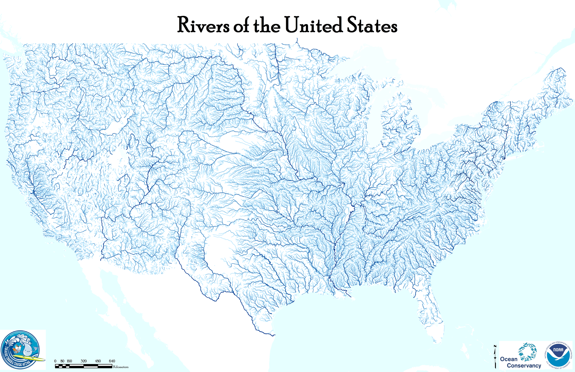 Map Usa Rivers States Map Images Outline Map Of The USA With - Us map of the rivers