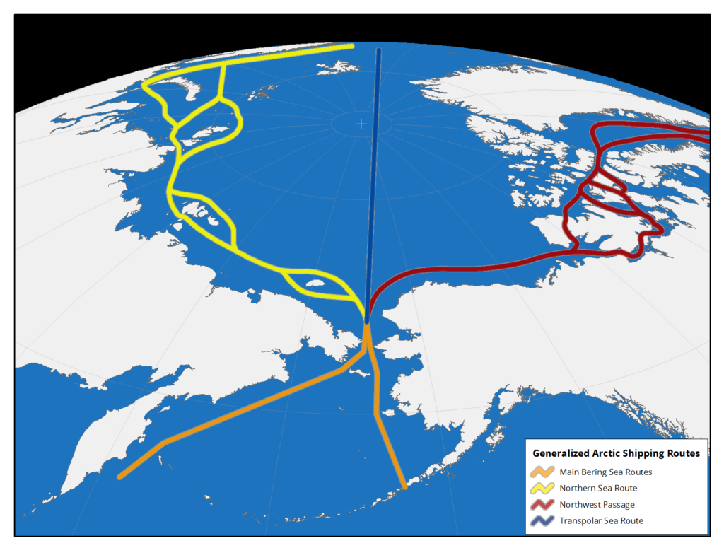 Bering Strait Shipping Routes